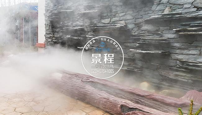 为客户打造专业的人造雾喷雾景观