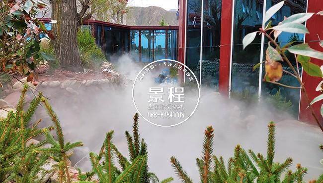 餐厅商户景观喷雾点缀,打造夏日仙境