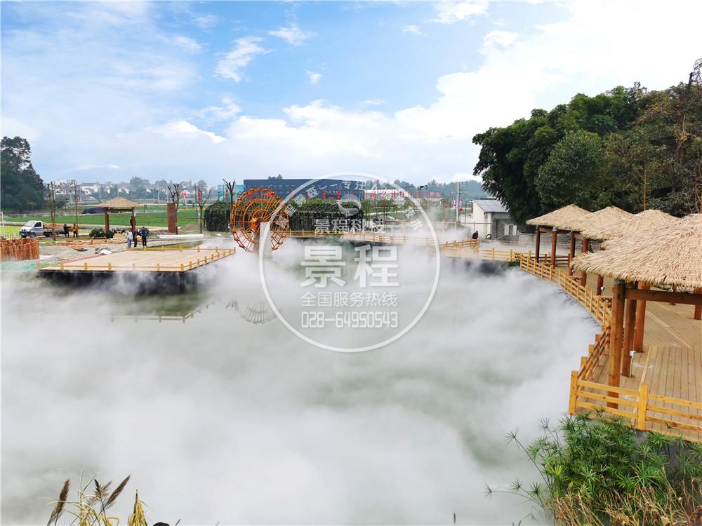 水雾造景,人造雾水景