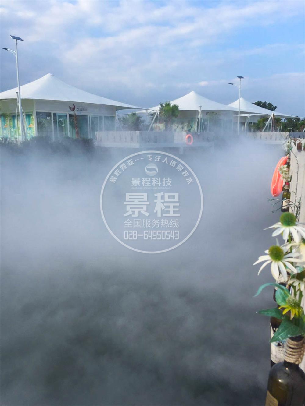 和海喷雾景观,人造雾系统